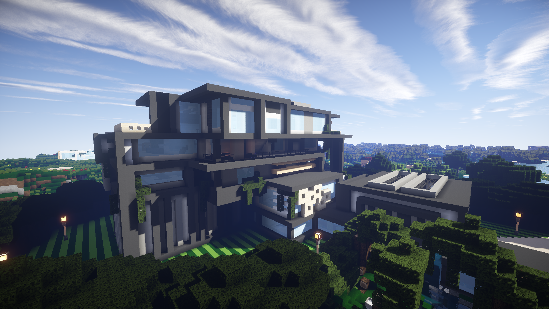 Download «contemporary mansion» map for minecraft.