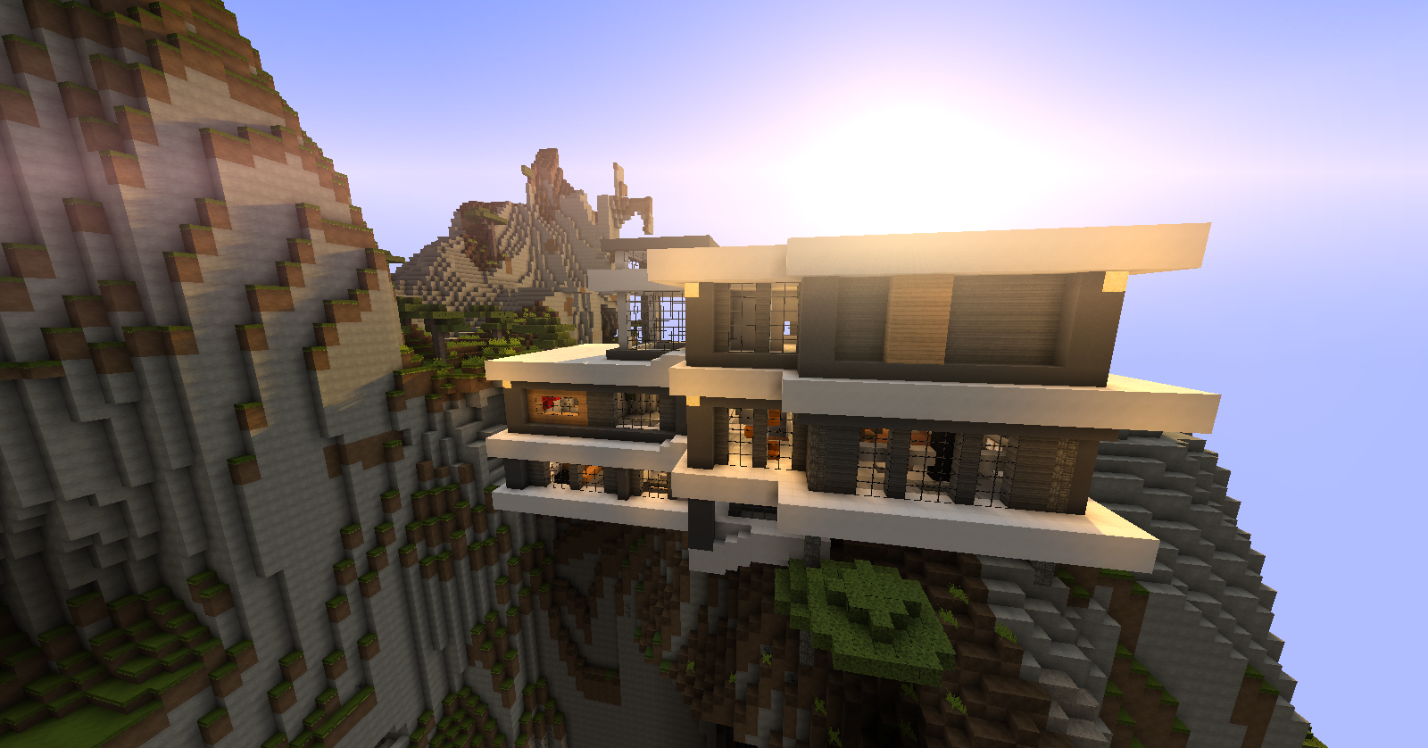Download «Modern Mountain House» (8 mb) map for Minecraft