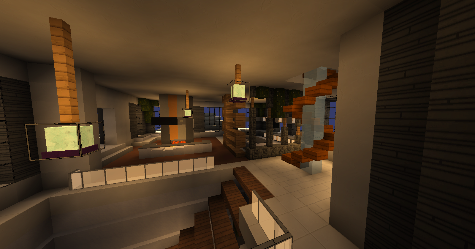 Download Modern Mountain House 37 Mb Map For Minecraft