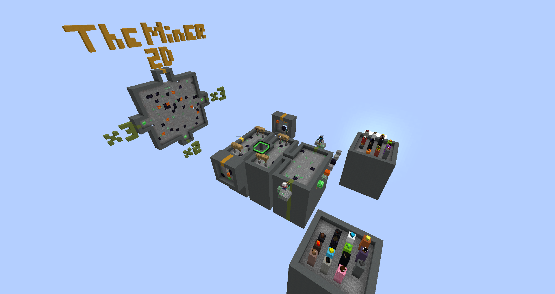Download The Miner 2D (926 kb) map for Minecraft