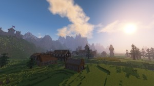 Download Medieval Village with Castle for Minecraft 1.12.2