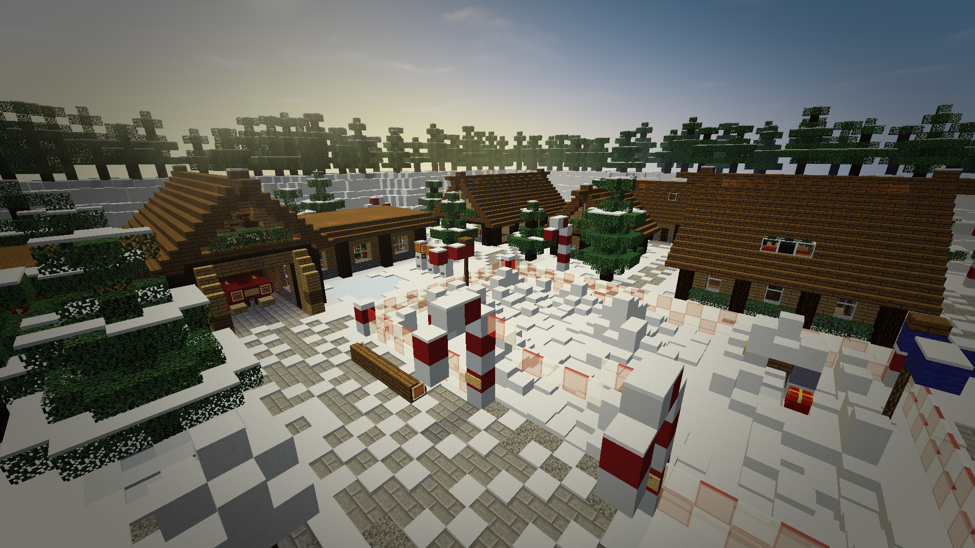 Minecraft Christmas Map.Download Santa S Christmas Village 3 Mb Map For Minecraft