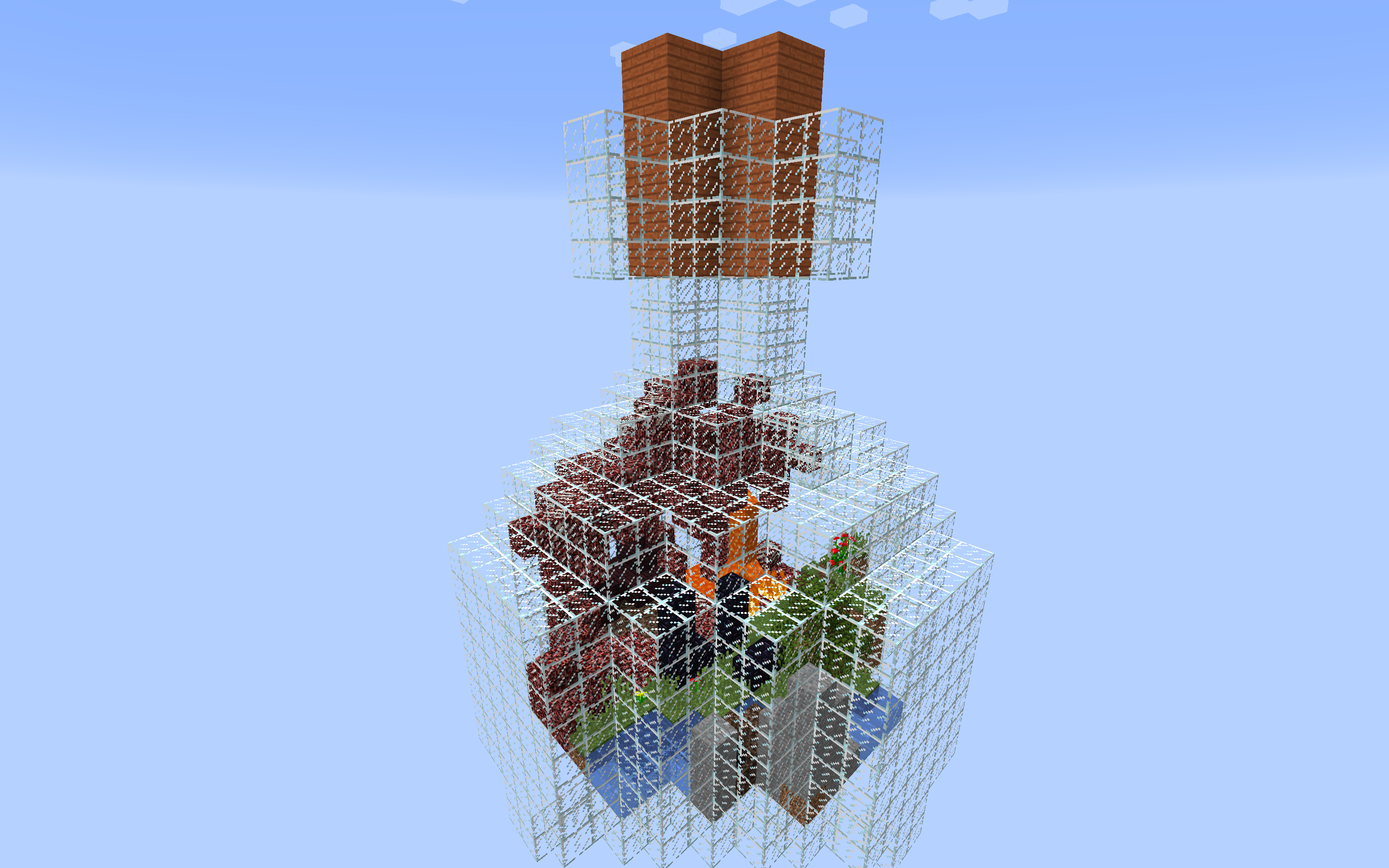 Download «Glass Bottle SkyBlock Survival» map for Minecraft