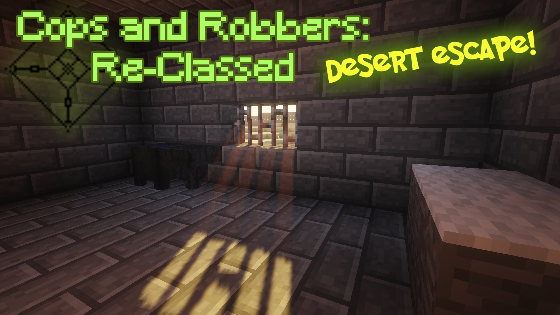 Download Cops and Robbers Re-classed: Desert Escape for Minecraft 1.13.2