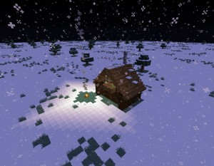 Download Snowy Log Cabin for Minecraft 1.14.1