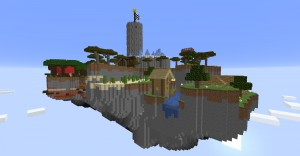 Download Parkour on Sky Island for Minecraft 1.15.2