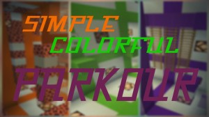Download Simple Colorful Parkour for Minecraft 1.15.2