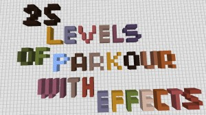 Download 25 Levels of Parkour With Effects for Minecraft 1.16.3