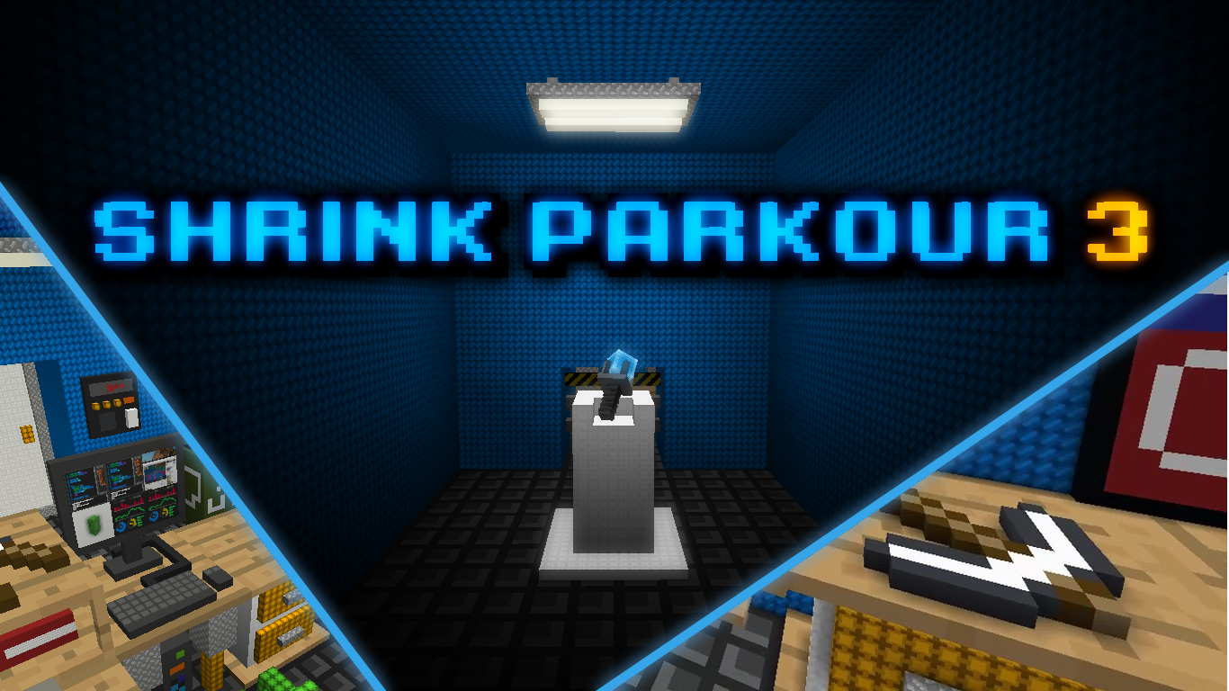 Download Shrink Parkour 3 for Minecraft 1.16.4