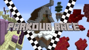 Download THE PARKOUR RACE for Minecraft 1.16.4