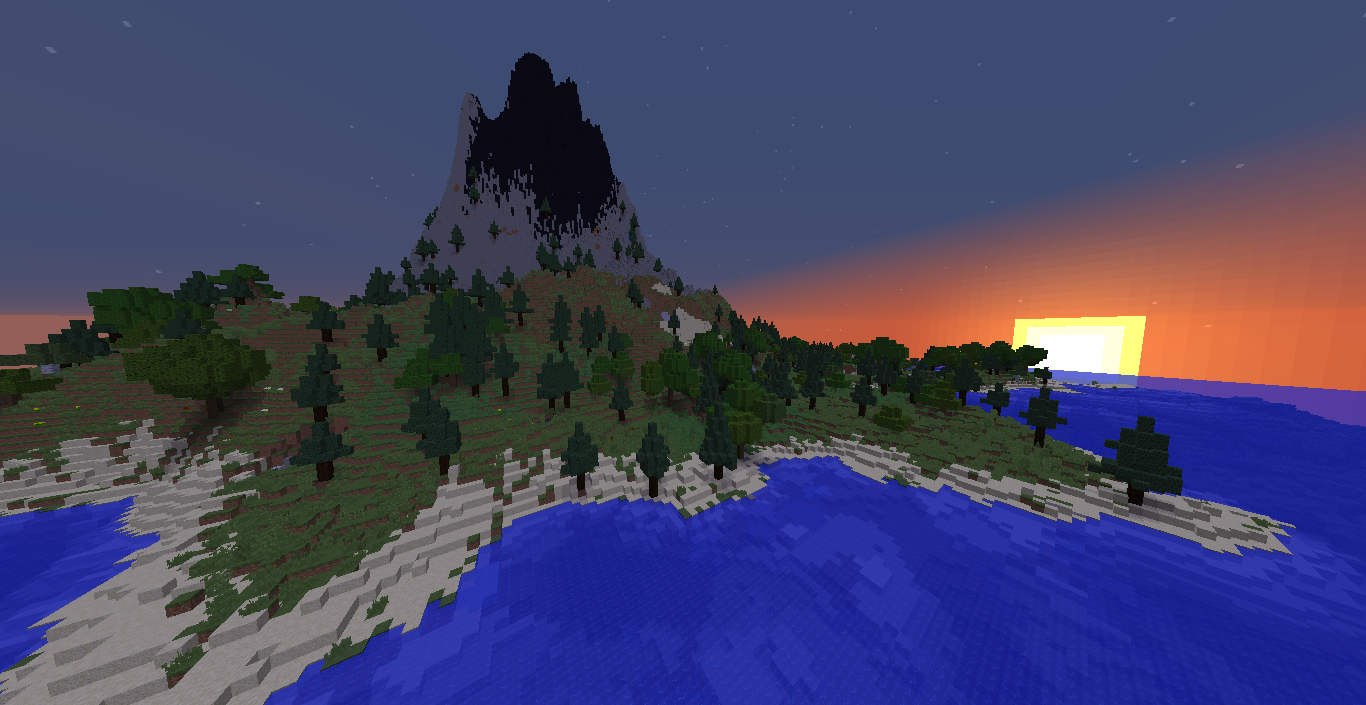 Download «Volcano Survival Island» map for Minecraft