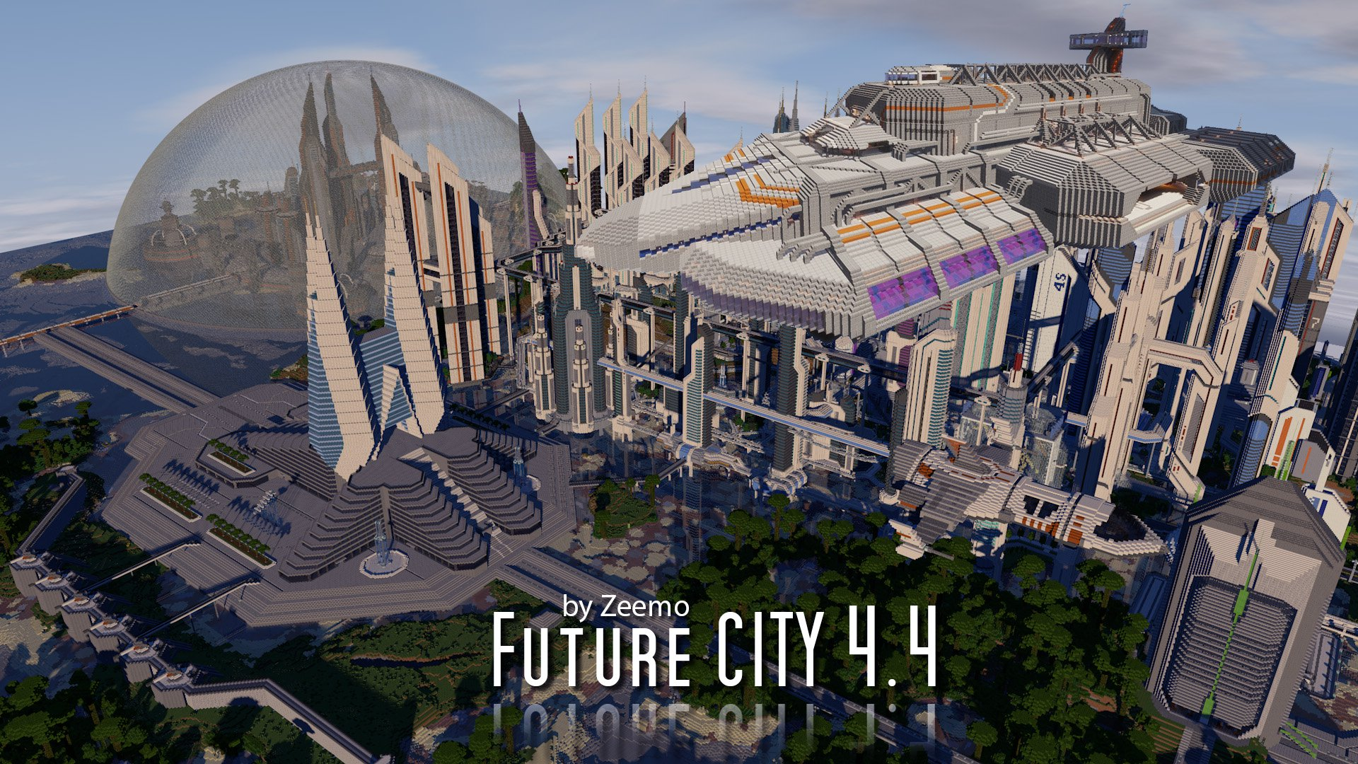 Download «Future City» map for Minecraft